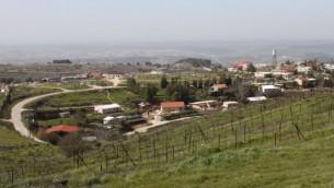 منظر لمستوطنة بات عاين في الضفة الغربية. (Gershon Elinson/Flash90)