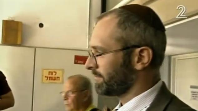 يهوشوع إليتسور (لقطة شاشة: القناة 2)
