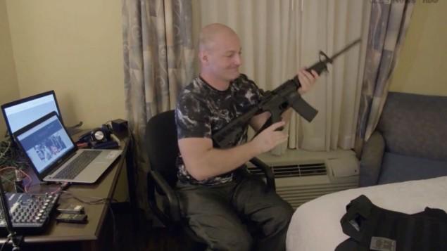 كريستوفر كانتويل، الناطق باسم حركة توحيد اليمين (Screenshot for Vice documentary, 'Charlottesville: Race and Terror,' screened August 14, 2017)