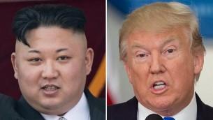 القائد الكوري الشمالي كيم جونغ أون والرئيس الامريكي دونالد ترامب (AFP Photo/Saul Loeb and Ed Jones)