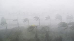رياح شديدة وأمطار عنيفة من إعصار 'ايرما' في مدينة ميامي في ولاية فلوريدا في 10 سبتبمر، 2017. (AFP PHOTO / SAUL LOEB)