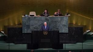 وزير الخارجية السوري وليد المعلم يقدم خطاب امام الجمعية العامة للامم المتحدة في نيويورك، 23 سبتمبر 2017 (BRYAN R. SMITH / AFP)