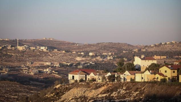 صورة توضيحية لمستوطنة اسرائيلية في الضفة الغربية، 6 اكتوبر 2016 (Flash90)