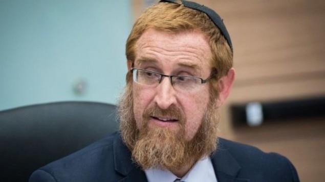 عضو الكنيست من حزب 'الليكود' يهودا غليك في الكنيست، 29 مايو 2017 (Yonatan Sindel/Flash90)