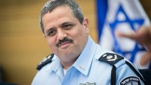 قائد الشرطة روني الشيخ يحضر اجتماع لجنة الشؤون الداخلية في الكنيست في القدس، في 11 يوليو 2017. (Yonatan Sindel/Flash90)