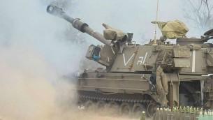 الجيش الإسرائيلي أطلق نحو 34,000 قذيفة مدفعية باتجاه غزة خلال العملية العسكرية التي استمرت 50 يوما. (photo credit: IDF Spokesperson's Unit)