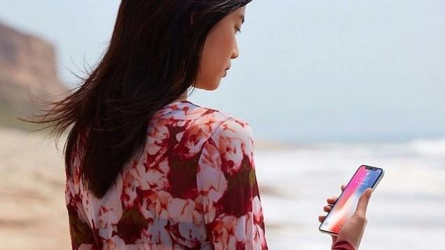 هاتف شركة أبل  ايفون X ذا ميزة التعرف على الوجه. (كورتيسي)