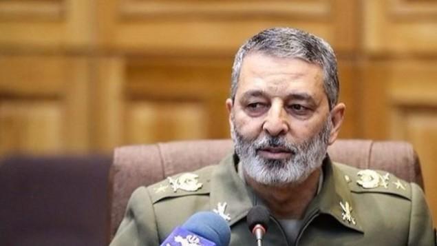 الميجر جنرال عبد الرحيم موسوي، القائد العام للجيش الإيراني. (Screen capture)