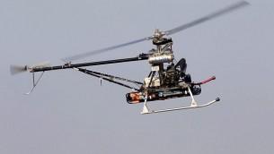 مركبة إير هوبر التابعة لشركة صناعات الفضاء الاسرائيلية وهي مركبة غير مأهولة تمكن إجلاء الجنود المصابين عن بعد. (Courtesy)