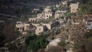 قرية ليفتا الواقع في ضواحي القدس، 17 ديسمبر 2016 (Hadas Parush/Flash90)