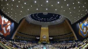 صورة للتوضيح: رئيسة وزراء بنغلاديش شيخة حسينة واجد تلقي كلمة في الدورة ال72 للجمعية العامة للأمم المتحدة في مقر الأمم المتحدة في نيويورك، 21 سبتمبر، 2017. (AFP/ Jewel SAMAD)
