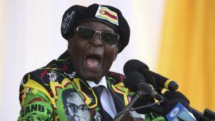 رئيس زيمبابوي روبرت موغابي، 4 نوفمبر 2017 (ZINYANGE AUNTONY / AFP)
