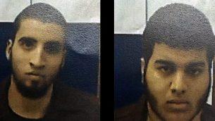 أحمد نبيل أحمد، يسار، وبهاء الدين زياد حسن مصاروة، يمين، اتهما بالتآمر لارتكاب جريمة، تم الكشف عنهم في 3 مارس / آذار 2016. (Shin Bet)