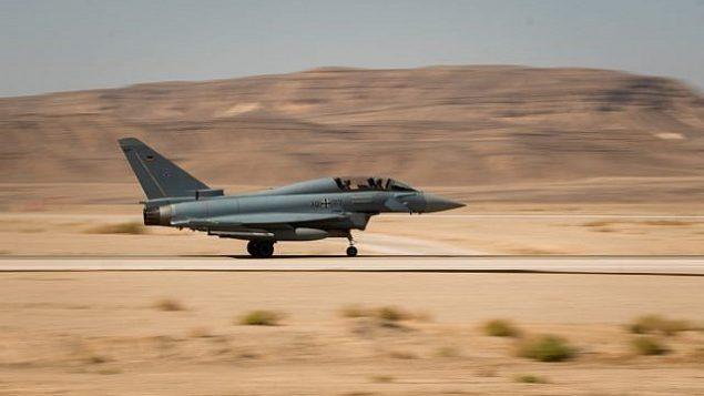 تشارك طائرة مقاتلة في تمرين العلم الأزرق الدولي في أوائل نوفمبر 2017. (Israel Defense Forces)
