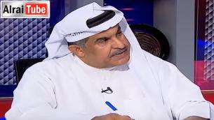 الكاتب الكويتي عبد الله الهدلق خلال مقابلة على قناة الرأي (YouTube screenshot)