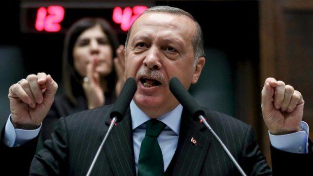 الرئيس التركي رجب طيب اردوغان خلال خطاب في انقرة، 5 ديسمبر 2017 (AFP PHOTO / ADEM ALTAN)
