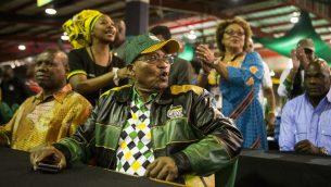 رئيس جنوب افريقيا جيكوب زوما يحضر اليوم الاخير من المؤتمر ال54 للحزب في يوهانسبرغ (AFP PHOTO / WIKUS DE WET)