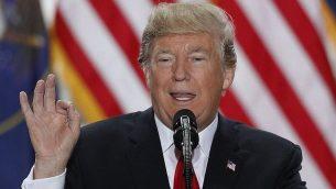 الرئيس الامريكي دونالد ترامب في ولاية اوتا، 4 ديسمبر 2017 (George Frey/Getty Images/AFP)