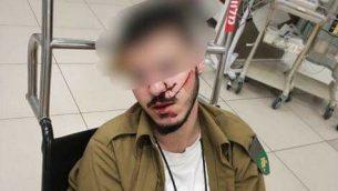 جندي درزي تعرض للهجوم والضرب من قبل جنود آخرين في قاعدتهم العسكرية. (Facebook)