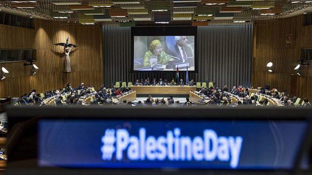 نائبة الأمين العام أمينة محمد في الاجتماع الخاص للجنة المعنية بممارسة الشعب الفلسطيني لحقوقه احتفالا باليوم الدولي للتضامن مع الشعب الفلسطيني في 29 نوفمبر / تشرين الثاني 2017. (UN/Kim Haughton)