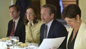 وزير الخارجية الدنماركي انديرس سامولسن في القدس (Courtsy: Yossi Zwecker)