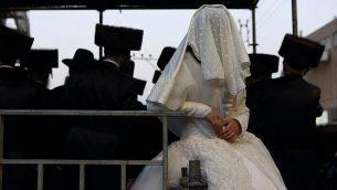صورة توضيحية لعرس أورثوذكسي. (Yaakov Naumi/Flash90)