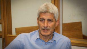 رئيس بلدية اور يهودا السابق دافيد يوسف في المحكمة المركزية في تل ابيب، 5 ديسمبر 2016 (Flash90)