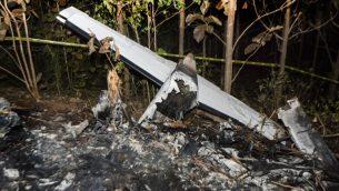 حطام طائرة سياحية سقطت في كوستاريكا، 31 ديسمبر 2017 (EZEQUIEL BECERRA / AFP)
