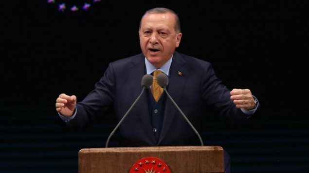 الرئيس التركي رجب طيب اردوغان يقدم خطاب في انقرة، 10 يناير 2018 (AFP/Adem Altan)