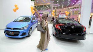 معرض سيارات مخصص للنساء في جدة، السعودية، 11 يناير 2018 (AFP/Amer Hilabi)