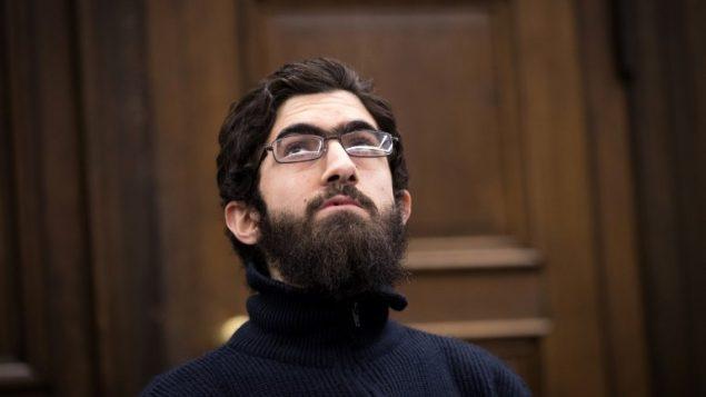 طالب اللجوء الفلسطيني احمد الحو في محكمة في هامبورغ، 12 يناير 2018 (AFP PHOTO / POOL / Christian Charisius)