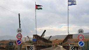 معبر جسر أللنبي يسن الأردن وإسرائيل (Shay Levy/Flash90)