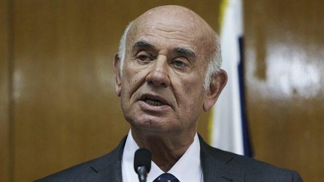 عضو الكنيست من حزب يش عتيد يعكوف بيري، الرئيس السابق للشين بيت. (Yonatan Sindel/Flash 90)