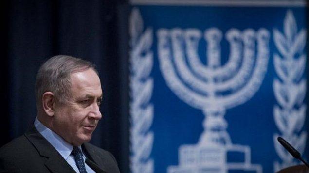 رئيس الوزراء بنيامين نتنياهو يحضر مؤتمر للسفراء الإسرائيليين في وزارة الخارجية في القدس في 3 يناير 2017. (Yonatan Sindel/Flash90)
