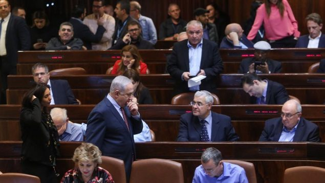 مشرعون اسرائيليون في الكنيست، 8 يناير 2018 (Yonatan Sindel/Flash90)