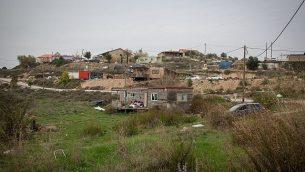 بؤرة حفات جلعاد الاستيطانية في الضفة الغربية، 10 يناير 2018 (Miriam Alster/Flash90)