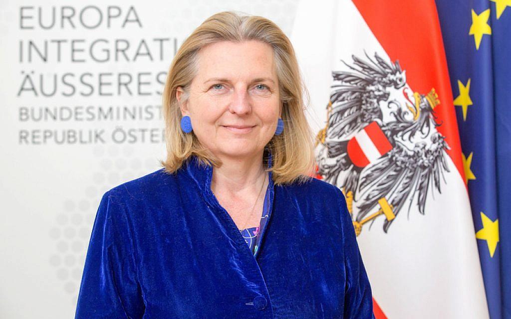 وزيرة الخارجية النمساوية كارين كنيسل. (George Schneider)