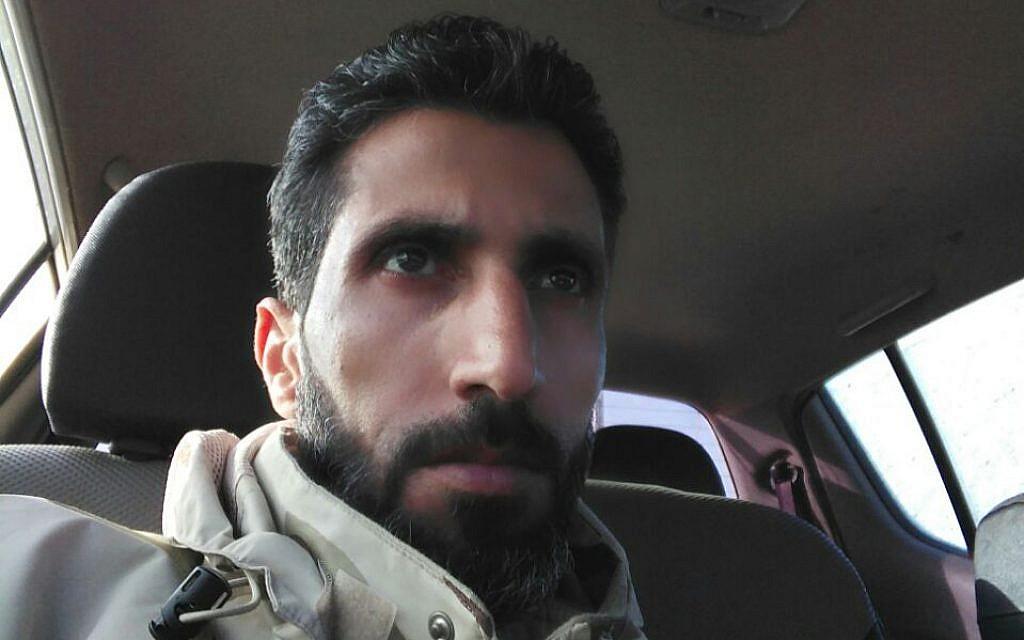 أبو محمد الأخطبوط، قائد 'الجبهة الوطنية لتحرير سوريا' في هضبة الجولان السورية. (Courtesy)