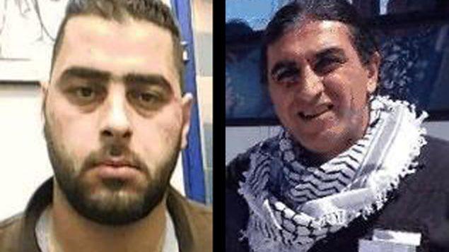 محمد محارمة، يسار، الفلسطيني المتهم بالتجسس من اجل إيران والتخطيط لتنفيذ هجمات ضد اسرائيل. وبكر محارمة، رجل فلسطيني يسكن في جنوب افريقيا، ومتهما بالوصل بين محمد وإيران (Shin Bet)
