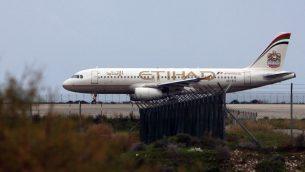 طائرة لشركة الطيران 'الاتحاد' في مطار لارنكا، قبرص، 10 يناير 2015 (AFP PHOTO / HASAN MROUE)