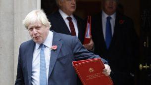 وزير الخارجية البريطاني بوريس جونسون في لندن، 31 اكتوبر 2017 (AFP PHOTO / Tolga AKMEN)