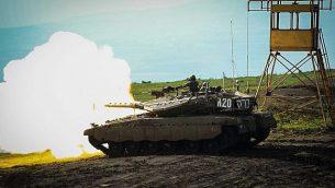 لواء 188 التابع للجيش الإسرائيلي يشارك في مناورة كبيرة في شمال إسرائيل تهدف إلى محاكاة حرب في لبنان في فبراير، 2018. (الجيش الإسرائيلي)
