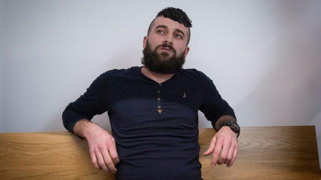 محمد خاروف، الفلسطيني المنحدر من نابلس، خلال جلسة للمحكمة المركزية في تل ابيب، 4 فبراير 2018 (Miriam Alster/Flash90)