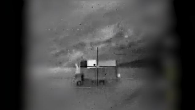 مركز القيادة المتنقل الذي منه  انطلقت، وفقا لإسرائيل، الطائرة المسيرة الإيرانية من سوريا إلى داخل المجال الجوي الإسرائيلي في 10 فبراير، 2018. (الجيش الإسرائيلي)