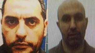 ضرغام جبارين (من اليسار) وزهير جبارين، الأول اعتُقل في يناير 2018 بعد تجنيده من قبل الأخير لتحويل الأموال إلى حركة حماس. (Shin Bet)