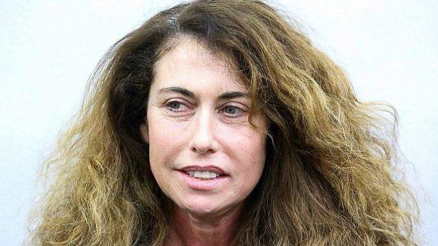 الرئيسة التنفيذية لشركة بيزك ستيلا هاندلر في جلسة استماع في محكمة الصلح في تل أبيب في 18 فبراير، 2018. (Flash90)