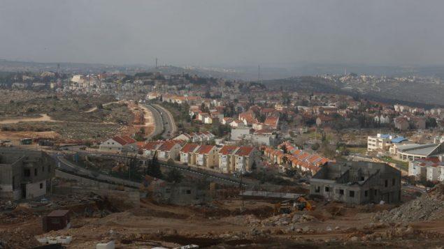 صورة توضيحية لمستوطنة ارئيل في الضفة الغربية، 17 يناير 2014 (Flash90)