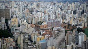 منظر جوي لساو باولو، البرازيل (Gili Yaari / Flash90)