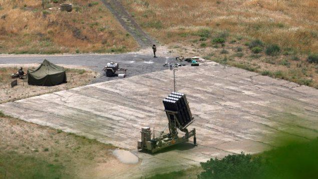 بطارية القبة الحديدية للدفاع الصاروخي في شمال اسرائيل، 7 مايو 2018 (Jalaa Mary/AFP)