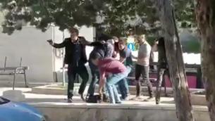 لقطة شاشة من مقطع فيديو لعملية اقتحام عناصر وحدة كوماندوز سرية في الشرطة الإسرائيلية في جامعة بيرزيت في الضفة الغربية، 7 مارس، 2018. (لقطة شاشة: YouTube)
